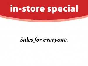 In Store Special Tag