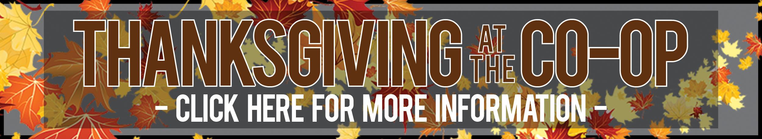 Thanksgiving Sampling Event November 10